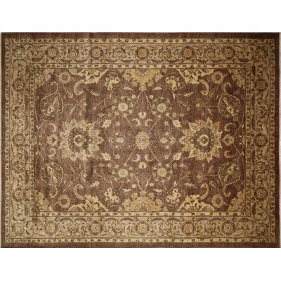 One-of-a-Kind Lahore Aizharkyn Hand-Knotted Chocolate Area Rug