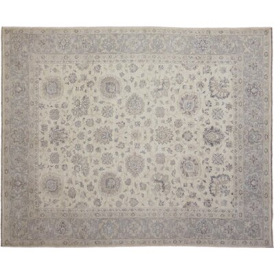 One-of-a-Kind Leann Hand-Knotted Oriental Rectangle Ivory Indoor Area Rug