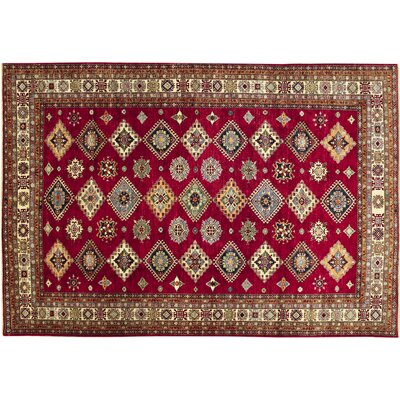 Kazak Super Payam Hand-Knotted Red Area Rug
