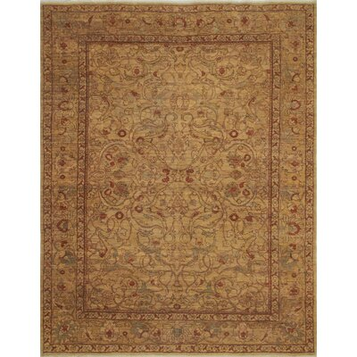 Leann Low-Pile Hand-Knotted Gold Area Rug