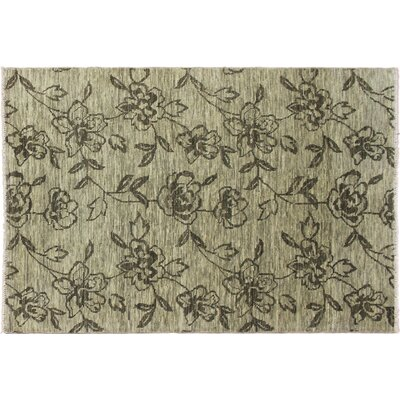 Patsy Hand-Knotted Green Area Rug
