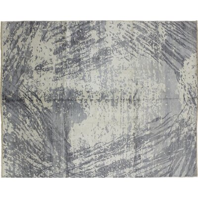 Oushak Super Fine Nurik Hand-Knotted Gray Area Rug