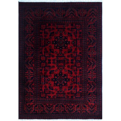 One-of-a-Kind Alban Hand-Knotted Red Oriental Area Rug