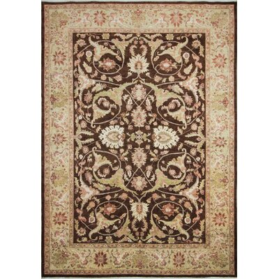 One-of-a-Kind Leann Hand-Knotted Brown Indoor Wool Area Rug