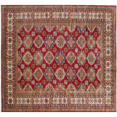 Kazak Super Usman Hand-Knotted Red Area Rug