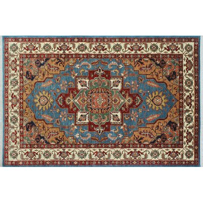 One-of-a-Kind Kazak Super Erke Hand-Knotted Blue Area Rug