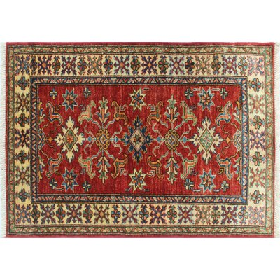 One-of-a-Kind Kazak Super Asif Hand-Knotted Red Area Rug