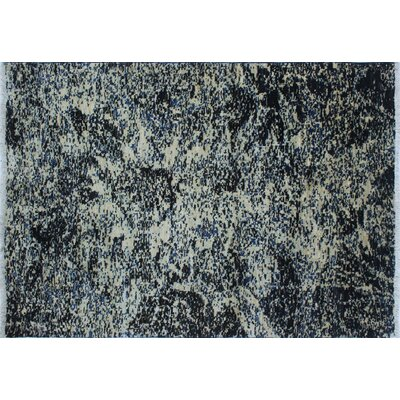 One-of-a-Kind Lauterbach Modern Hand-Knotted Ivory Area Rug