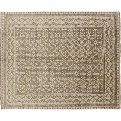 One-of-a-Kind Viscose Hormizd Hand-Knotted Brown Area Rug