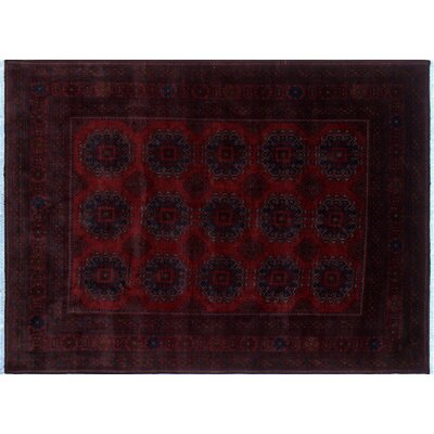 One-of-a-Kind Alban Fringe Hand-Knotted Red Area Rug