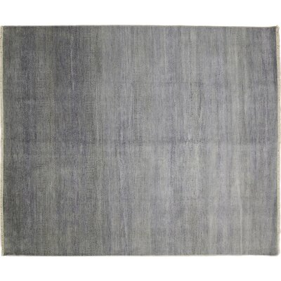 One-of-a-Kind Grass Super Fine Roshan Hand-Knotted Gray Area Rug