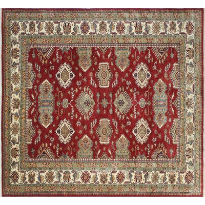 One-of-a-Kind Kazak Super Addy Hand-Knotted Red Area Rug