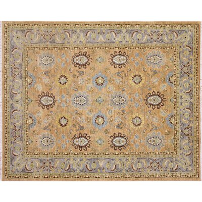 Leann Hand-Knotted Light Brown Area Rug