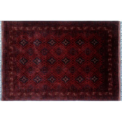 Alban Dark Hand-Knotted Red Area Rug