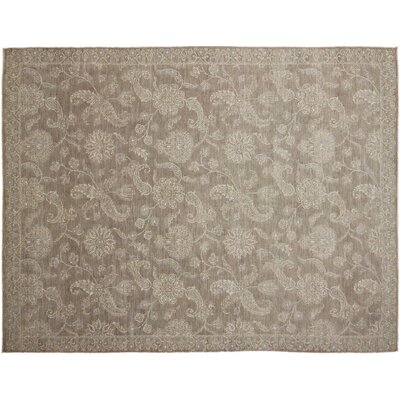 Leann Hand-Knotted Rectangle Brown Indoor Area Rug