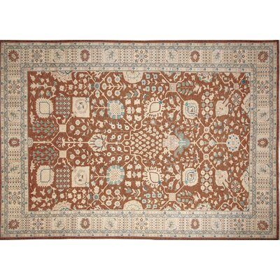 Leann Hand-Knotted Light Brown Area