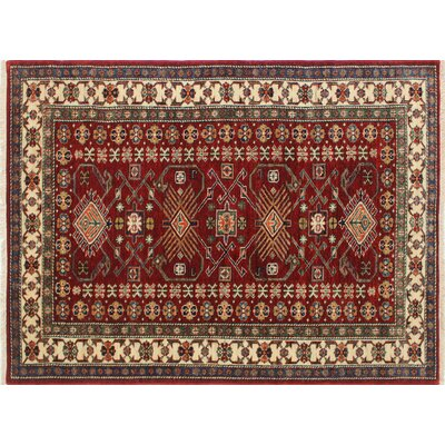One-of-a-Kind Kazak Super Asad Hand-Knotted Red Area Rug N1394