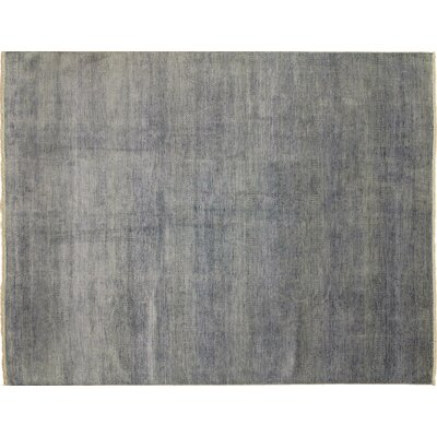 One-of-a-Kind Grass Super Fine Shirin Hand-Knotted Gray Area Rug