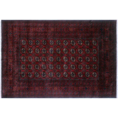 One-of-a-Kind Alban Hand-Knotted Rectangle Red Fringe Indoor Area Rug