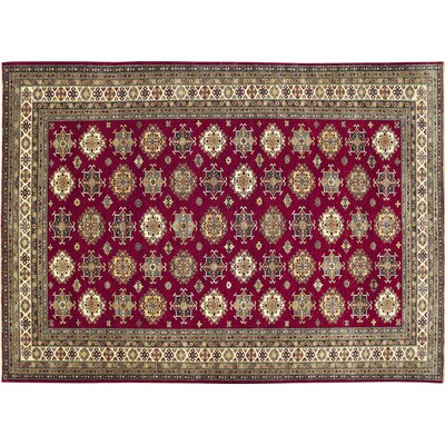 Kazak Super Delshad Hand-Knotted Red Area Rug