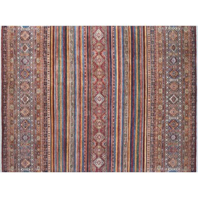 Acer Hand-Knotted Rectangle Red Premium Wool Area Rug