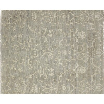 Bellview Hand-Knotted Green Area Rug