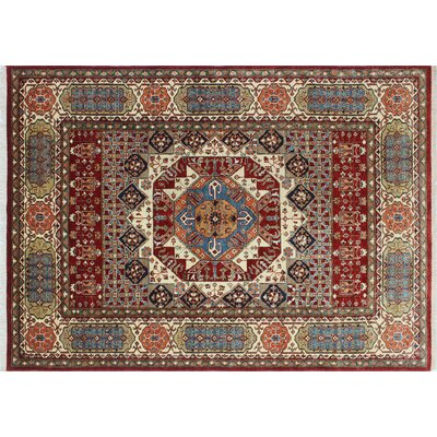 Kazak Super Rabia Hand-Knotted Red Area Rug