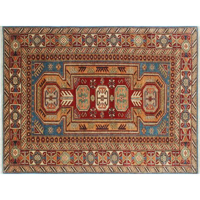 Kazak Super Sohail Hand-Knotted Blue Area Rug
