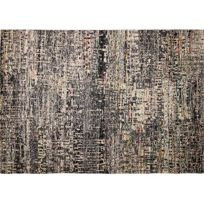 Sari Silk Bailee Hand-Knotted Black Area Rug