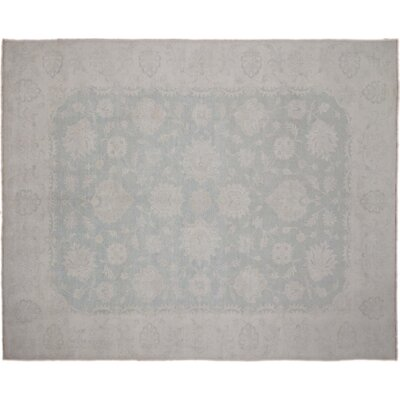 Leann Hand-Knotted Rectangle Green Indoor Area Rug