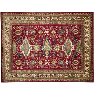 Kazak Super Farah Hand-Knotted Red Area Rug