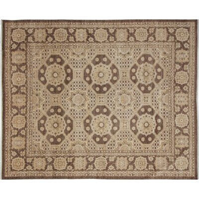 One-of-a-Kind Leann Hand-Knotted Oriental Brown Area Rug
