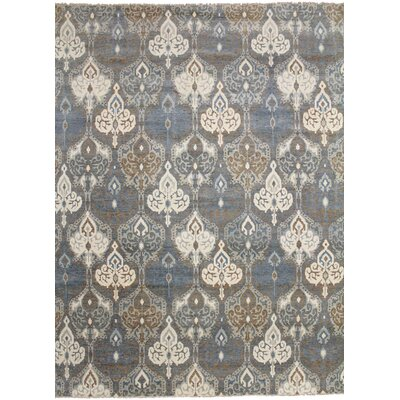One-of-a-Kind Bellview Hand-Knotted Wool Gray Area Rug