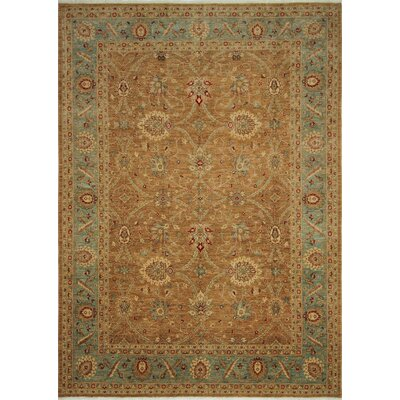 Leann Hand-Knotted Rectangle Brown Wool Area Rug