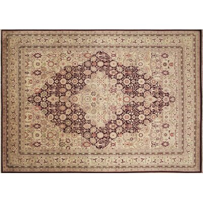 Versailles Sawyer Hand Knotted Wool Aubergine Area Rug Rug Size: Rectangle 810 x 124