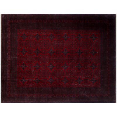 One-of-a-Kind Alban Hand-Knotted Red Area Rug