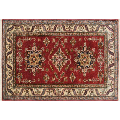 Kazak Super Ibadshah Hand-Knotted Red Area Rug