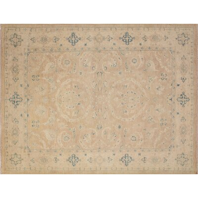 One-of-a-Kind Leann Hand-Knotted Rectangle Light Brown Wool Area Rug