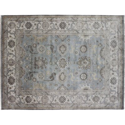 One-of-a-Kind Bellview Hand-Knotted Rectangle Green Area Rug