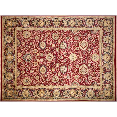 Versailles Fulton Hand Knotted Wool Red Area Rug Rug Size: Rectangle 102 x 1210