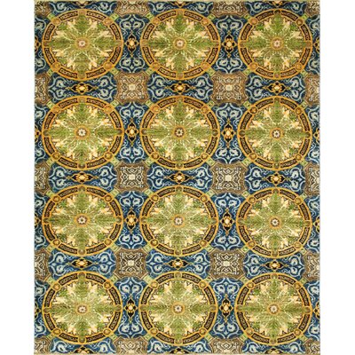 Aidric Hand-Knotted Blue Area Rug