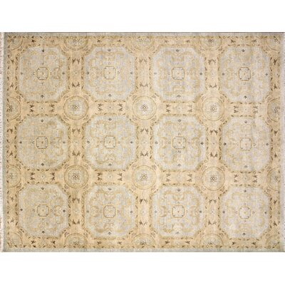 Leann Hand-Knotted Light Blue Wool Indoor Area Rug