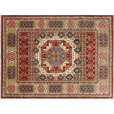 Kazak Super Mariyam Hand-Knotted Red Area Rug