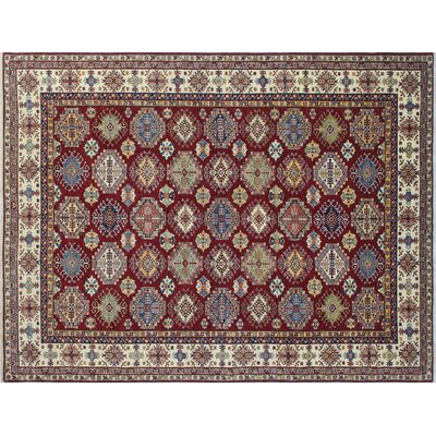 One-of-a-Kind Kazak Super Rahman Hand-Knotted Red Area Rug