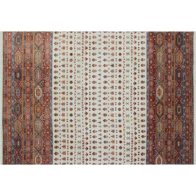 One-of-a-Kind Acer Hand-Knotted Rectangle Ivory Area Rug