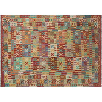 One-of-a-Kind Kilim Nazanin Hand-Woven Rust Area Rug