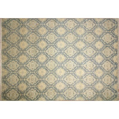 Suzani Mahnaz Hand-Knotted Light Blue Area Rug