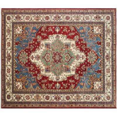 Kazak Super Amjad Hand-Knotted Red Area Rug