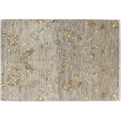 One-of-a-Kind Oushak Super Fine Payton Hand-Knotted Gray Area Rug