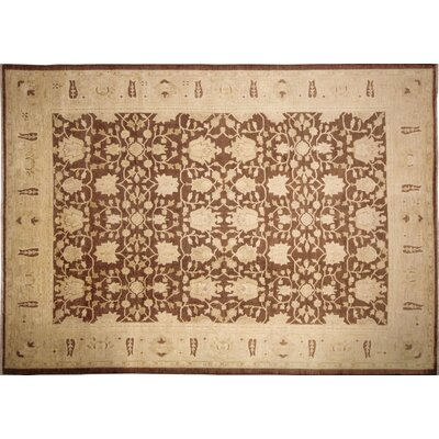 Lahore Ines Hand-Knotted Chocolate Area Rug